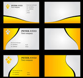 Business Card Set Yellow — Stock Photo