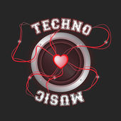 Techno poster RED — Foto de Stock
