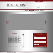 Company web layout — Vector de stock