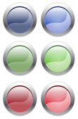 Simple Web Buttons — Stock Vector