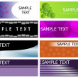 Banner set collection - Stock Vector