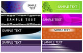 Banner set collection — Vector de stock