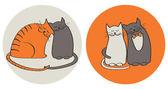 Gatos apaixonados — Vetorial Stock