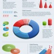 Graphs and charts for creating info-graphics. — Stock vektor