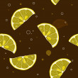 Background of lemon slices — Stock Vector