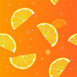 Royalty-Free Stock Vector Image: Background of lemon slices