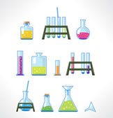 Chemical laboratory. Set of tubes. — Stock Vector