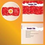 CD cover design — Stock Vector