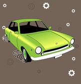 Old italian car. Retro — Stock Vector