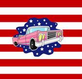 Vecchia auto americana — Vettoriale Stock