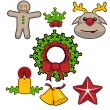 Set of christmas icons — Stock Vector #37220173