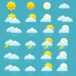 Stock Vector: Weather forecast icons se