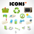 Set with 17 icons — Stock Vector