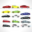 Car icons. — Stock Vector
