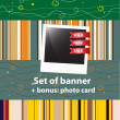 Set of banners, sale stickers, photo-framework — Stock Vector