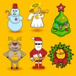 Stock Vector: Set of christmas icons