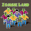Zombie land — Stock Vector