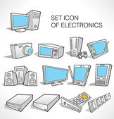 Icon of electronics. — Stock Vector