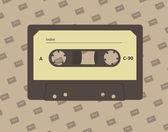 Audio cassette — Stock Vector