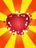 Sevgililer günü için poster — Stok Vektör