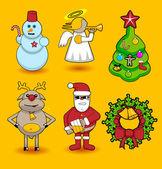 Set of christmas icons — Stock Vector