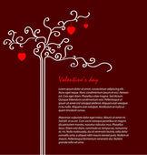 Manifesto per il giorno di San Valentino — Vettoriale Stock