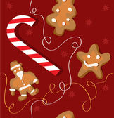 Christmas cookies background pattern — Stock Vector