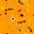 Coffee vector pattern. — Stock Vector