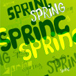 Spring. Vector font pattern. — Stock Vector