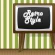 Retro style. TV and wallpaper. — Stock Vector