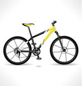 Detailed yellow Bike. Vector. — Stock Vector