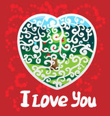 Holidays poster for Valentine's day. — Stock Vector