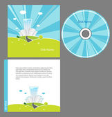 CD cover design with copy space, vector. — Stock Vector
