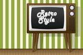 Retro style. TV and wallpaper. — Stock vektor