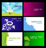 Templates of business cards. Vector. — 图库矢量图片