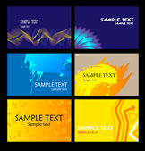 Templates of business cards. Vector. — Stock Vector