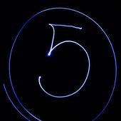 """波浪符号。激光光字母表。符号""""5"""". — 图库照片"""