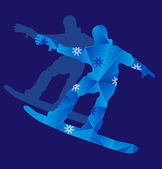 Man on snowboard — Stock Vector
