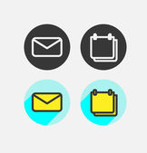 Set icon flat design — Stockvektor