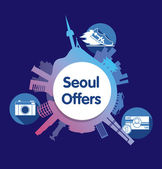 Design  poster for travel. Seoul. — 图库矢量图片