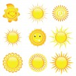 Sun icons — Stock Vector #20376351