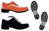 Man shoes — Stock Vector