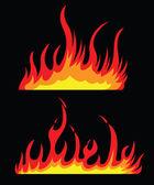 Burning fire — Stock Vector