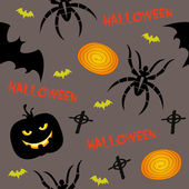 Halloween, seamless background — Stock Vector