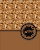 Ciclismo rápido para la venta comercial, café — Vector de stock