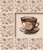 Kahve kupası — Stok Vektör