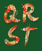 Decorative alphabet, font — Stock Vector