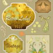 Vintage And Retro Design Elements. Useful design elements: old papers, labels in retro and vintage style. Vector Illustration. — Stock Photo