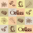 Coffee background, seamless — Stock Vector #13363392