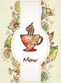 Coffee background, menu — Stock Vector